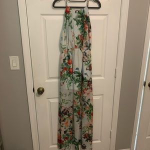 Floral & butterfly print maxi by Fate